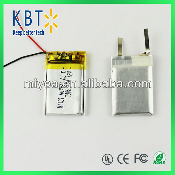 032030PL 120MAH Rechargeable 3.7V Li-ion Battery/Lithium polymer Battery