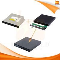 USB2.0 External Case Enclosure for laptop SATA CD DVD RW Drive 12.7mm