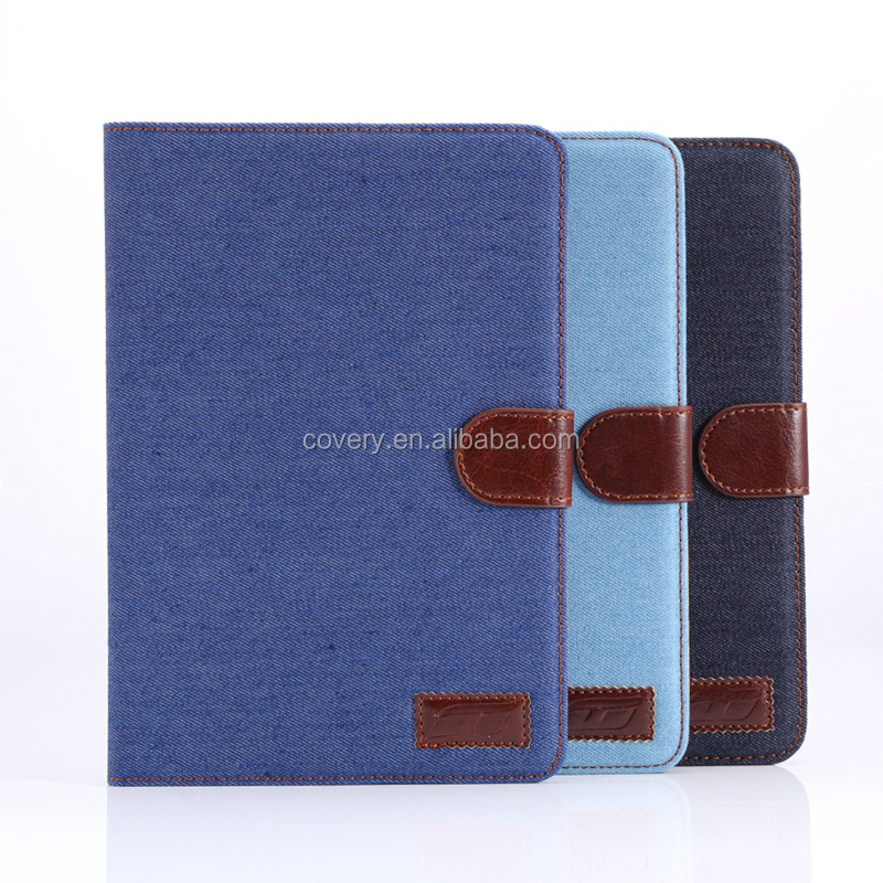 High quality Denim leather for iPad mini 4 case, leather for iPad mini 4 case