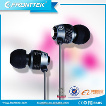 brand earphone with microphone for laptop silicone rubber cover as promotion