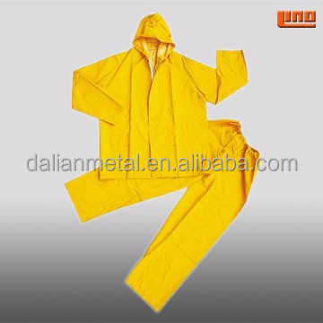 PVC Yellow Rubber Raincoat