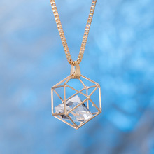 Newest design gold CZ necklace different types of pendant diamond jewelry gold chian pendant necklace