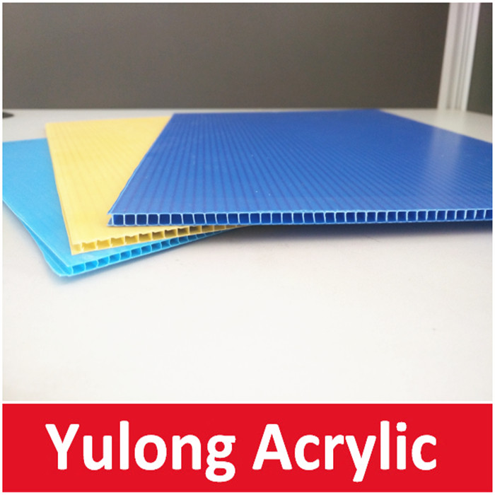 Black and White Corrugated Plastic Sheets for Printing 4*8