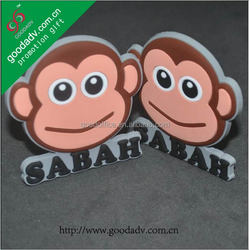 Made in China monkey design customized soft pvc key chain