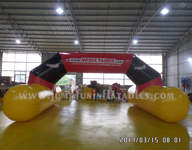 Sports Timming 22ft Floating Inflatable Finish Line air tight Inflatable water arch/ START line