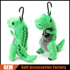 Custom Made Funny Dinosaur Golf Ball Holder Pouch With Carabiner
