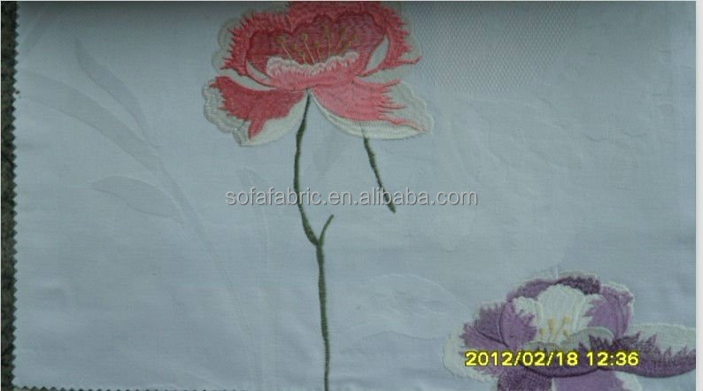 Embroidered cotton and linen sofa ,curtain ,cushin ,bedding set fabric
