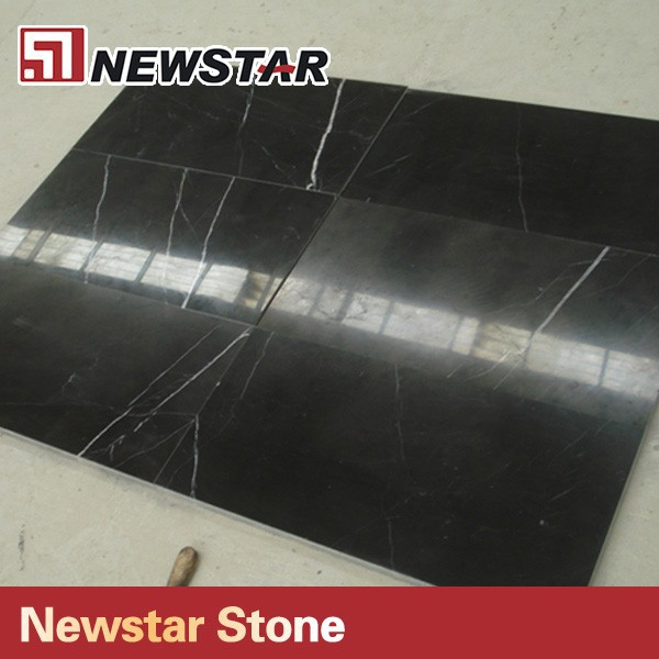 Newstar cheap polished black reconstituted marble