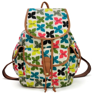 New Arrival Canvas Animal Print Backpack For Girl School Rucksack Shoulder Bags Promotion