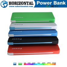 Hot sale portable power bank 4000mAh,portable power banks with built-in cable alibaba china