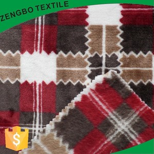two side brushed type of plaid flannel fleece fabric for blanket and pajamas