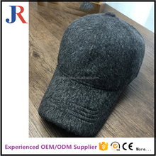 Jiangrun long bill flexfit custom women and men wool winter autumn 6 panel wool baseball cap