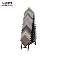 Squared Porcelain Tile Display Racks Metal Display Stands