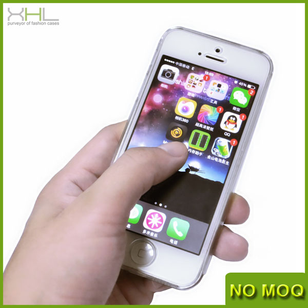 New product 0.55mm ultrathin full protective glass clear plastic phone case for iphone 5 5s