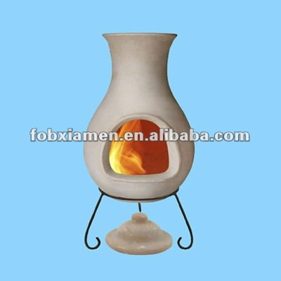 Garden supplies clay cast iron chimeneas
