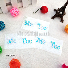 ME TOO acrylic rhinestone letter sticker for wedding shoe