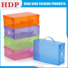 folding clear plastic shoe box with cheap price