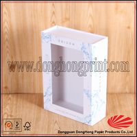 White top and bottom lid gift paper packing box for clothing