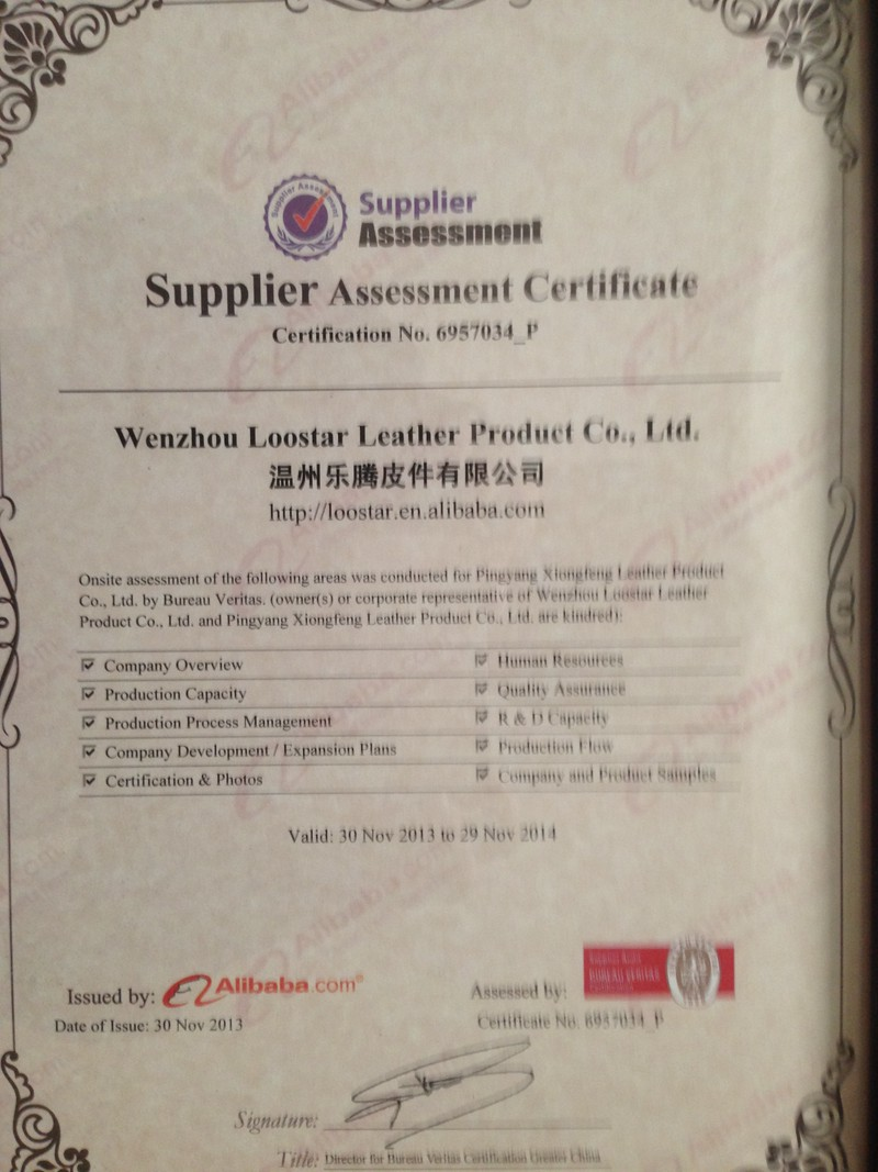 Supplier Assessment