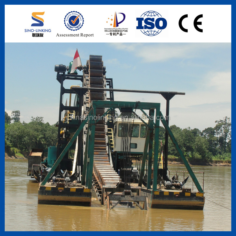 SINOLINKING Gravity Gold Dredge Barge/Gold Mining Dredger/Gold Dredger for sale from SINOLINKING
