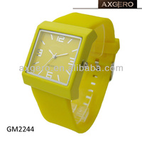 alloy case silicone fashion watch hot sale