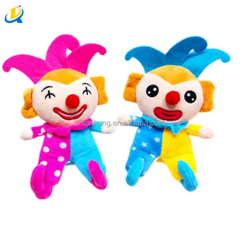 Circus clown doll plush Promotional customized stuffed plush toy