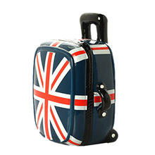 New Arrival Unique Union Jack Trolley Case Money Box