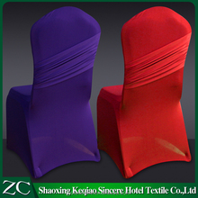 new style thick polyester lycra pruple red hotel chair cover with wings decoration