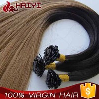 Top Grade Human Hair Factory Whosale I Tip Pre Glued Hair Extension