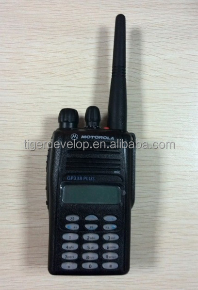 Best price portable high quality vhf uhf two way radio long range 5w for GP338 plus
