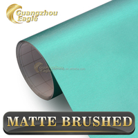 Cheap but Good Quality Matte Brushed Chrome Dark Blue Wrap for Car Body