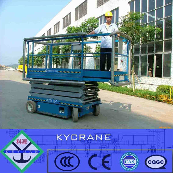 mobile hydraulic electric scissor lift with good quality and best service in China