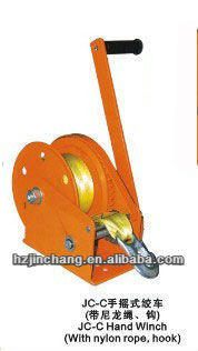 2017 Newest JC-C Hand Winch With Nylon rope & hook
