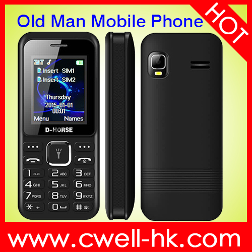 D-Horse D200 dual sim 5 LED Torch GSM Quad band Simple Old Man Mobile Phone