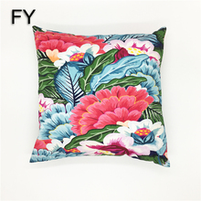 Beautiful floral design digital printed cushion cover