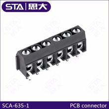 pcb screw connector pitch 6.35mm connector