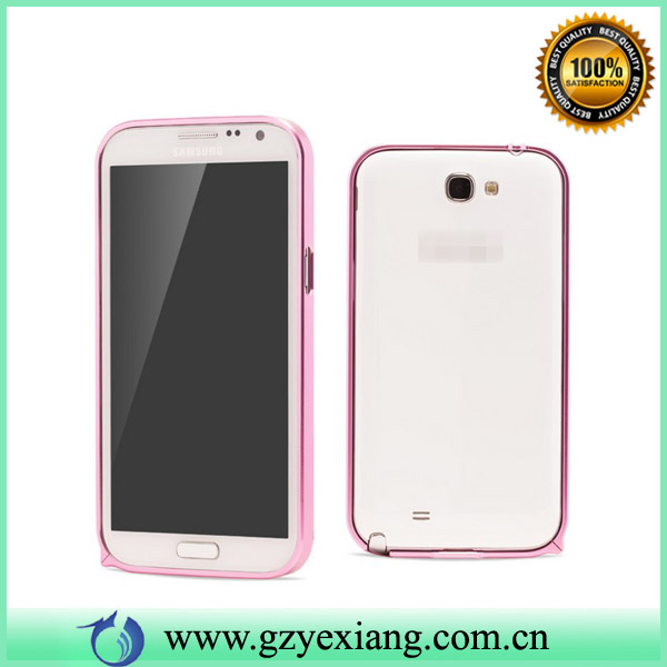 aluminum bumper case for samsung galaxy note 2