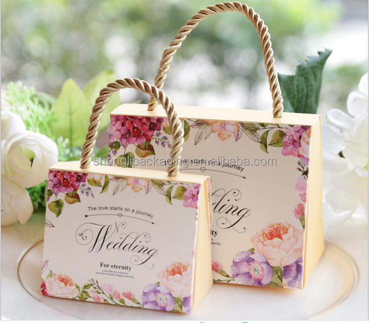 wholesale 60pcs/lot Candy Gift <strong>Boxes</strong> Wedding Party Favor With handle for candies sweet box (small)