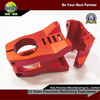anodized red cnc aluminum parts used in sport equipment cnc bike parts