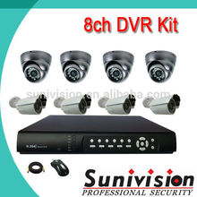 8ch dvr kit ir waterproof smart face recognition surround view security camera system