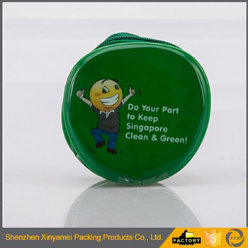 round PVC packaging bag mini colour bag