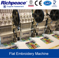Richpeace Digital Computer Precise Logo Flat Embroidery Machine For Sale