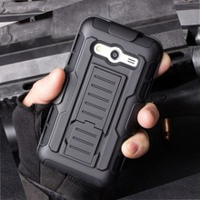 Armor Hybrid Triple Full Capa Military 3in1 Defender Combo Case for samsung galaxy core prime g360 Stand Kickstand Cover