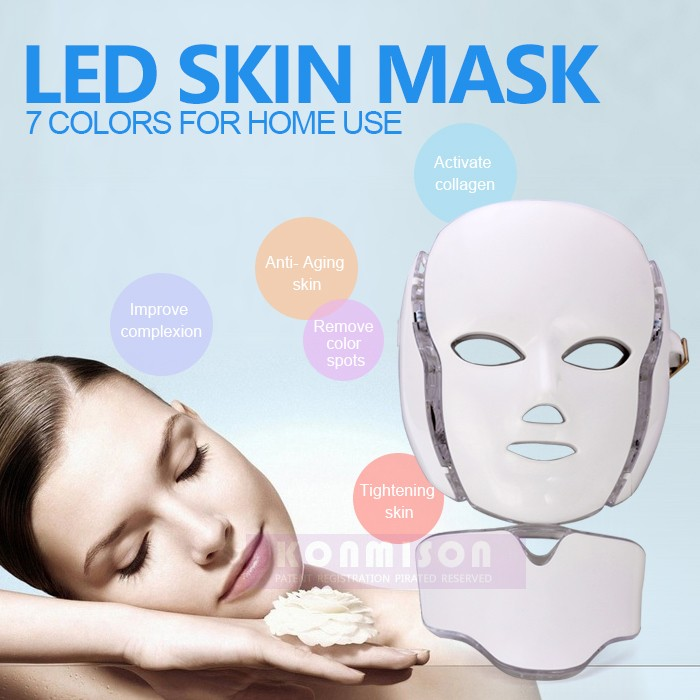 Wrinkle removal machine portable skin care led facial mask
