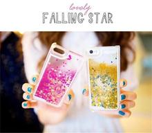 Salable dynamic liquid pc case with glitter star bumper case for iphone 5s 6s 7 plus for samsung