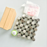 23pcs/set Russian Tulip Icing Piping Nozzles +5pcs pastry bags+ coupler set