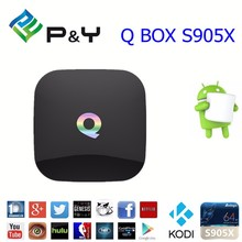 ott remote control google chromecast amlogic Q BOX S905 2G 16G Quad core android 5.1 tv box kodi