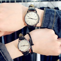 3806 fashion hot sale leather strap popular Pairs lover quartz cheap couple wrist watches