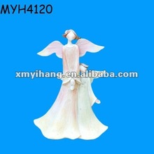 Customized ceramic bisque fairy figurines with wings