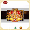 Wholesale 5 Panels Canvas Prints Indian Gods Pictures Paintings on Canvas for Living Room